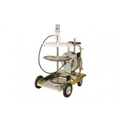 Пневматический нагнетатель смазки LubeWorks с катушкой (бочка 180-200 кг)
