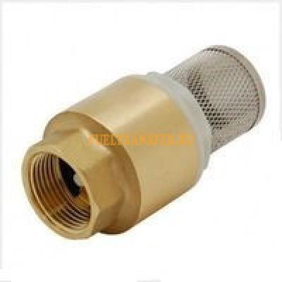"""Обратный клапан 1"""" с фильтром грубой очистки Piusi"""