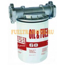 Фильтр тонкой очистки от механических примесей 10 мк с сменным картриджем до 60л/мин