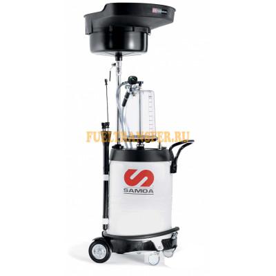 Мобильная установка для слива и откачки отработанного масла 100 л с предкамерой